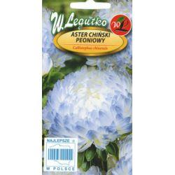 Aster chiński peoniowy białoniebieski 1g L