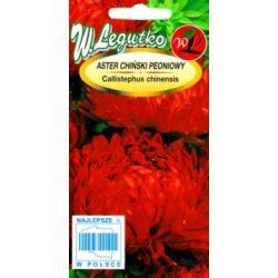 Aster chiński peoniowy czerwony 1g L