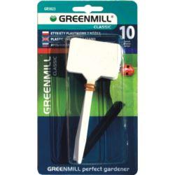 GR5023 Etykiety plastikowe 10szt z nóżką + ołówek