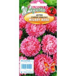 Aster chiński karłowy Milady różowy 1g L